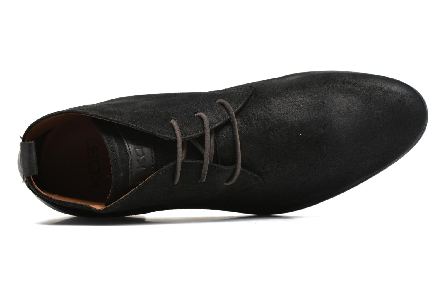 Lace-up shoes Kost Zkivive46 Black view from the left