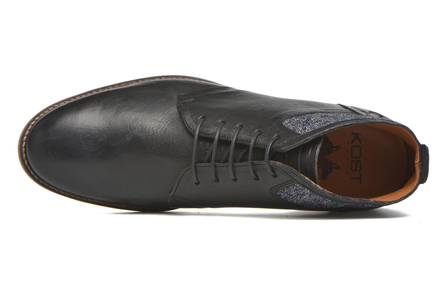 Lace-up shoes Kost Renon25 Black view from the left
