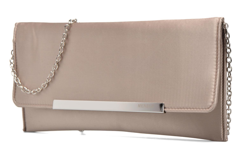 Handbags Menbur Pochette satin Beige model view