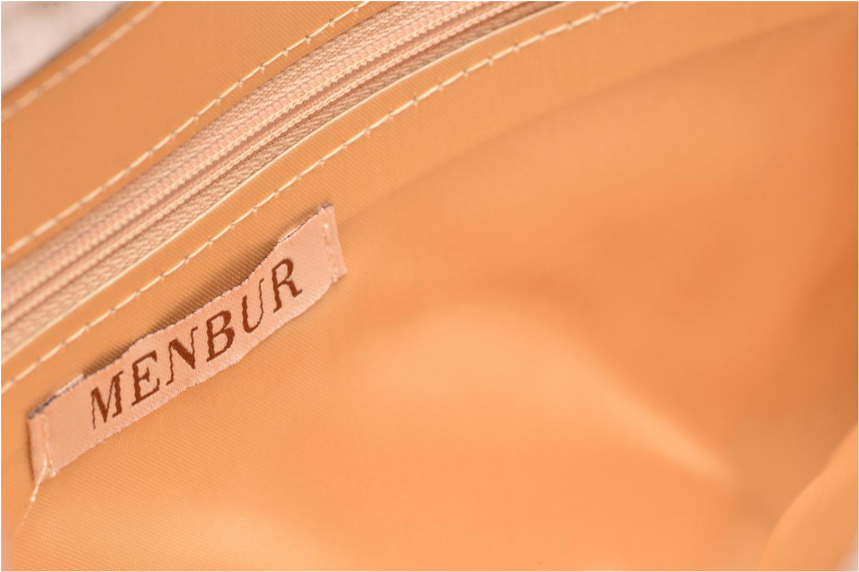 Handbags Menbur Pochette satin Beige back view