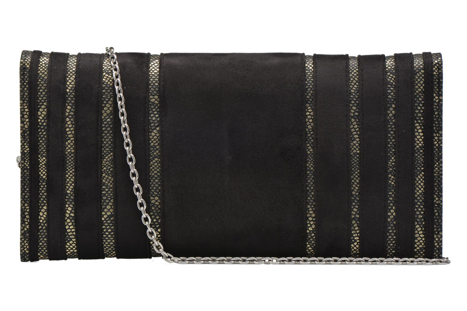 Pochette suédée S Black and gold