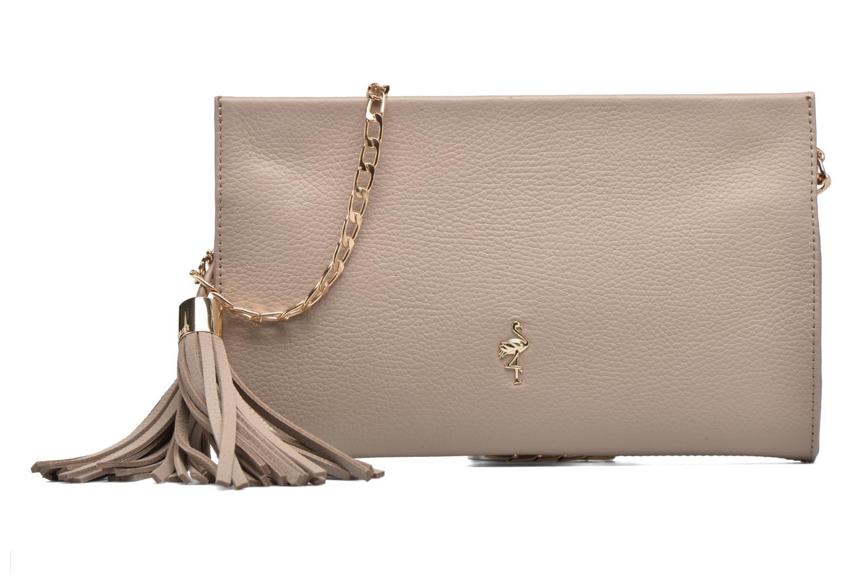 Mini Bags Menbur Pochette grainée pompon beige detaillierte ansicht/modell