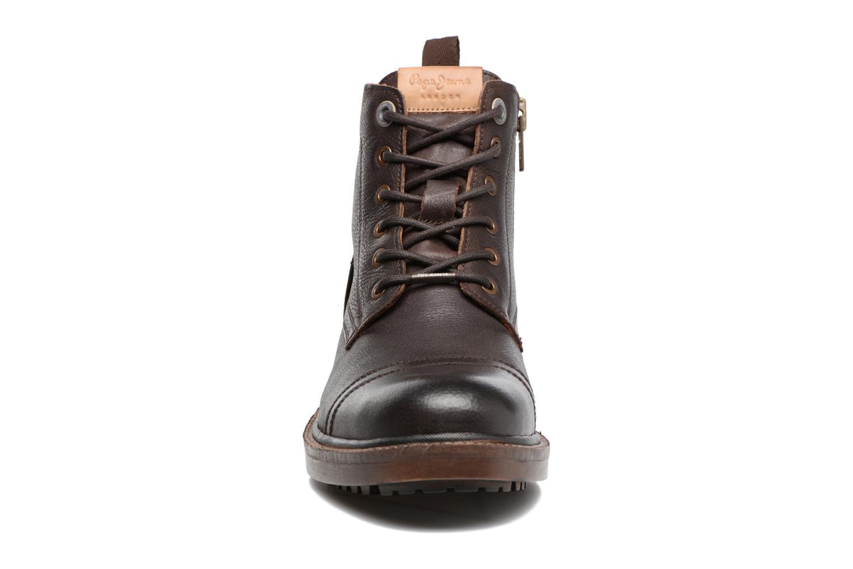 Bottines et boots Pepe jeans Vivek Boot Marron vue portées chaussures