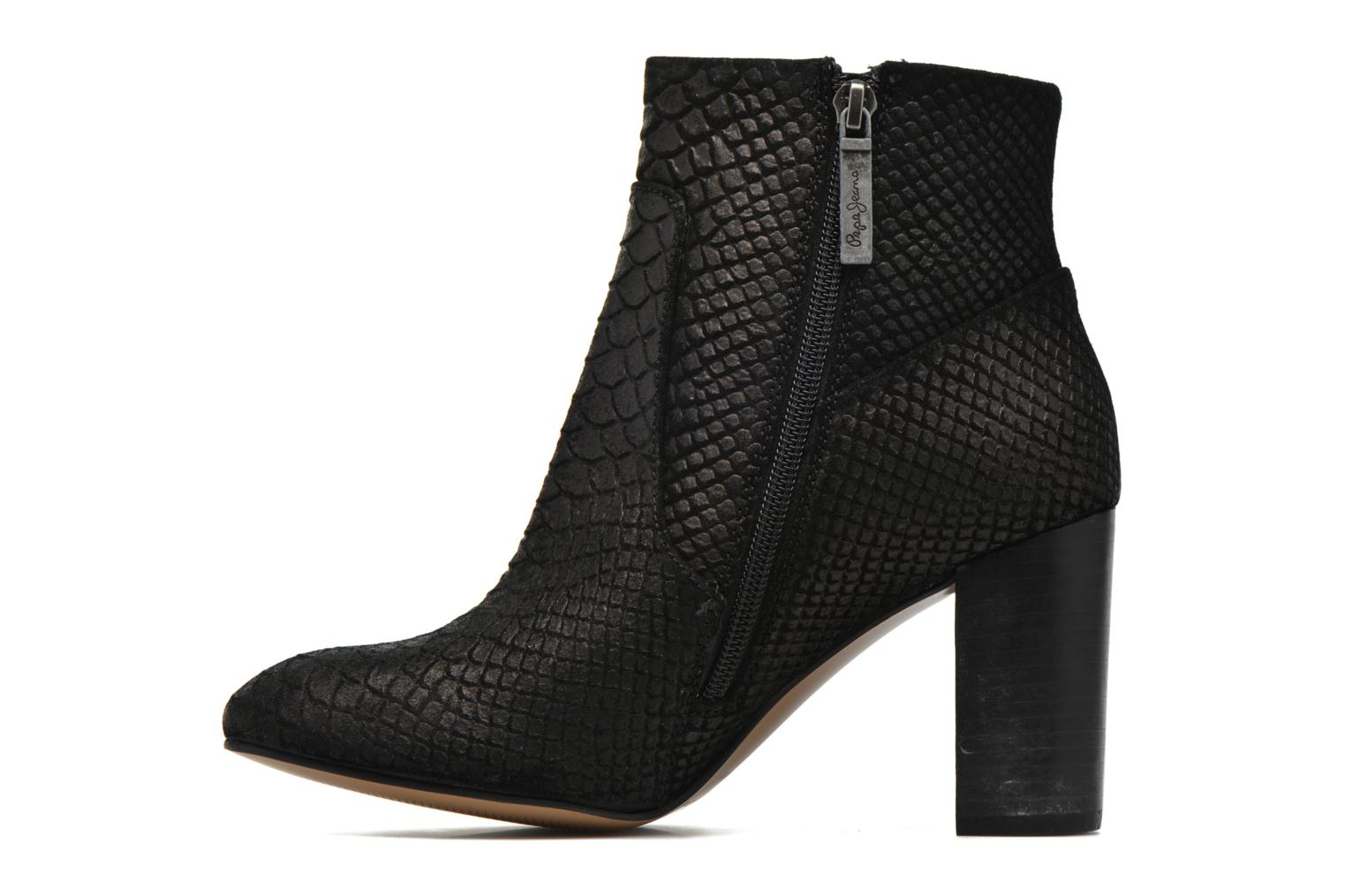 Ankle boots Pepe jeans Dylan Basic Snake Black front view