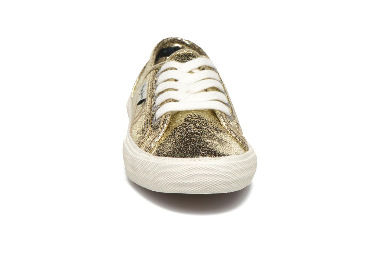 Baskets Pepe jeans Aberlady Crackle Or et bronze vue portées chaussures