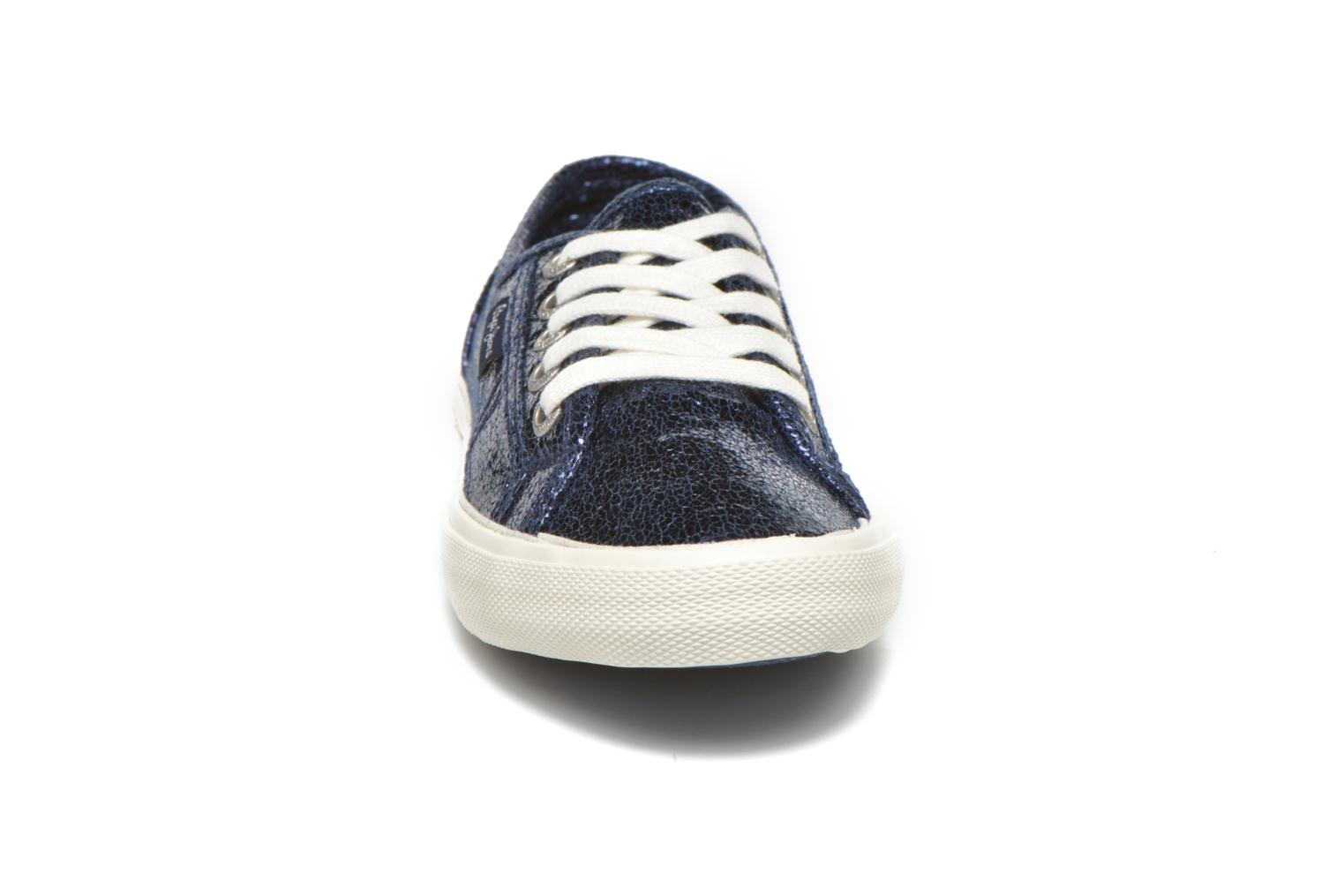 Trainers Pepe jeans Aberlady Crackle Blue model view