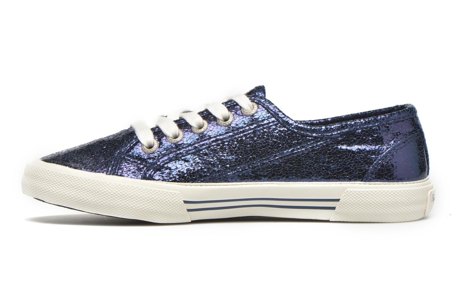 Trainers Pepe jeans Aberlady Crackle Blue front view