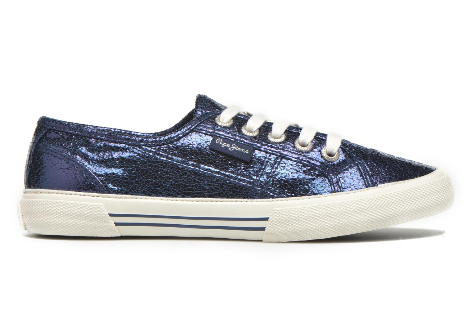 Trainers Pepe jeans Aberlady Crackle Blue back view
