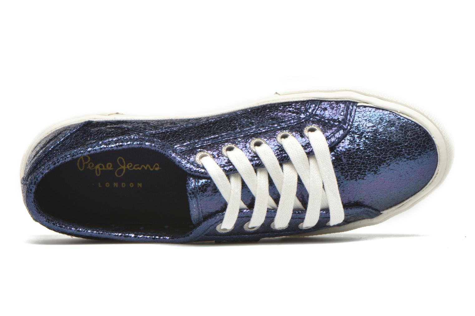 Trainers Pepe jeans Aberlady Crackle Blue view from the left
