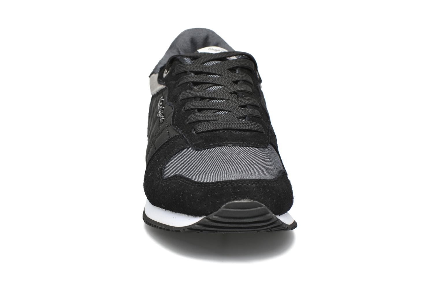 Trainers Pepe jeans Gable Padding Black model view