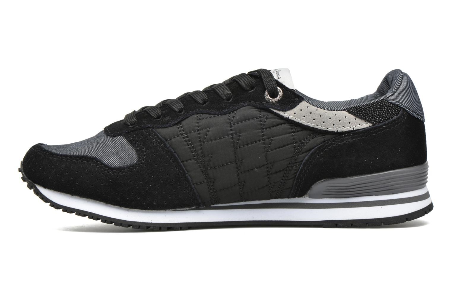 Trainers Pepe jeans Gable Padding Black front view
