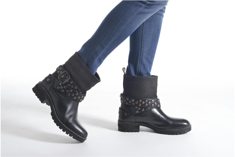 Stivaletti e tronchetti Pepe jeans Helen Straps Nero immagine dal basso