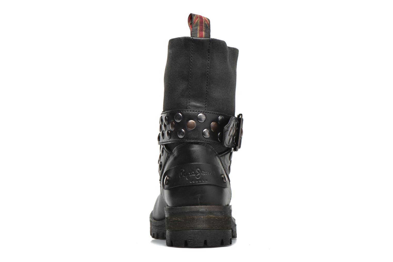 Bottines et boots Pepe jeans Helen Straps Noir vue droite