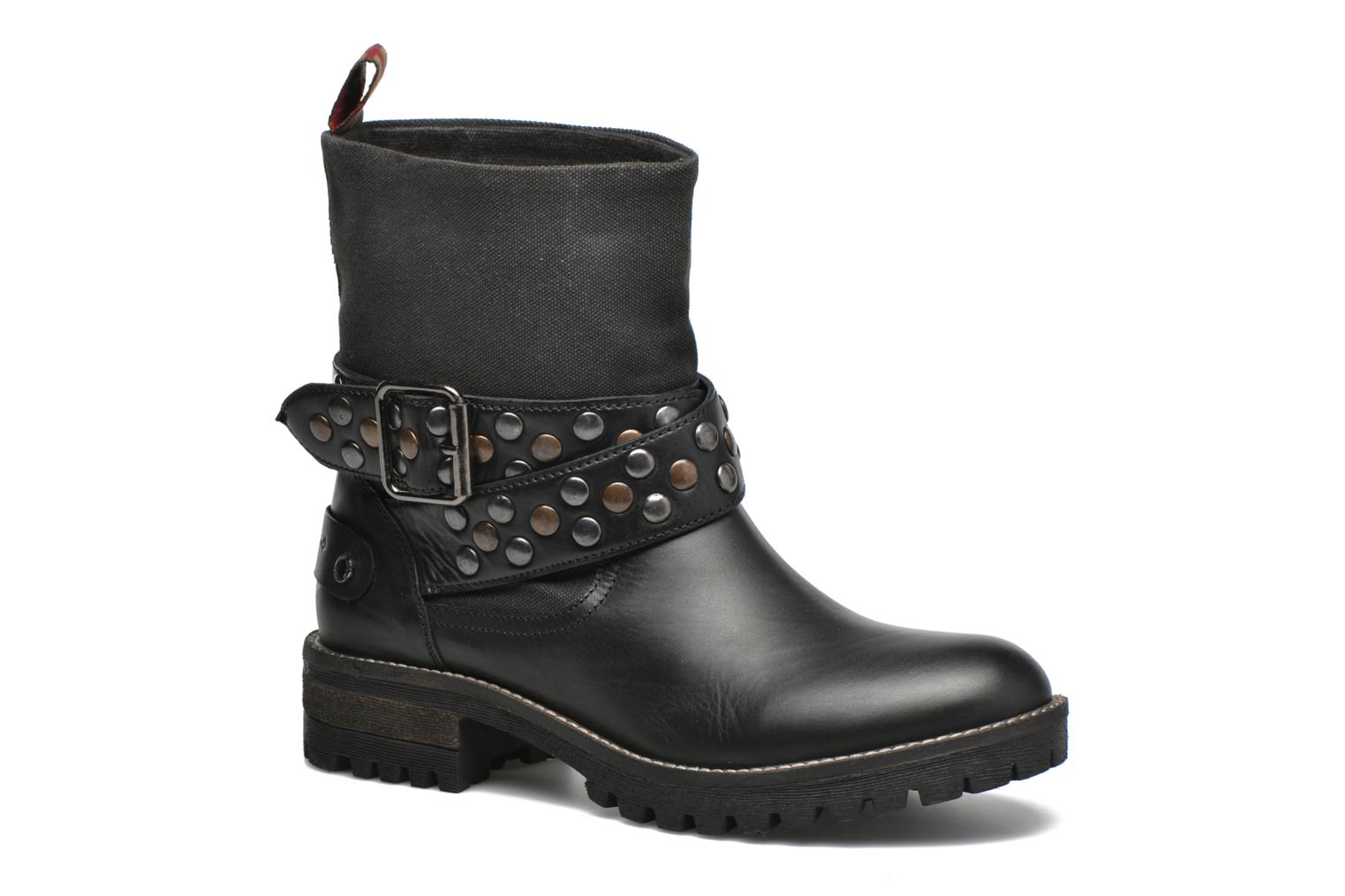 Ankle boots Pepe jeans Helen Straps Black detailed view/ Pair view