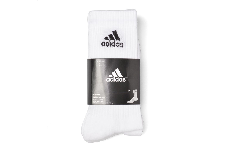 Socken & Strumpfhosen Adidas Performance 3S PER CR HC 3P weiß ansicht von hinten