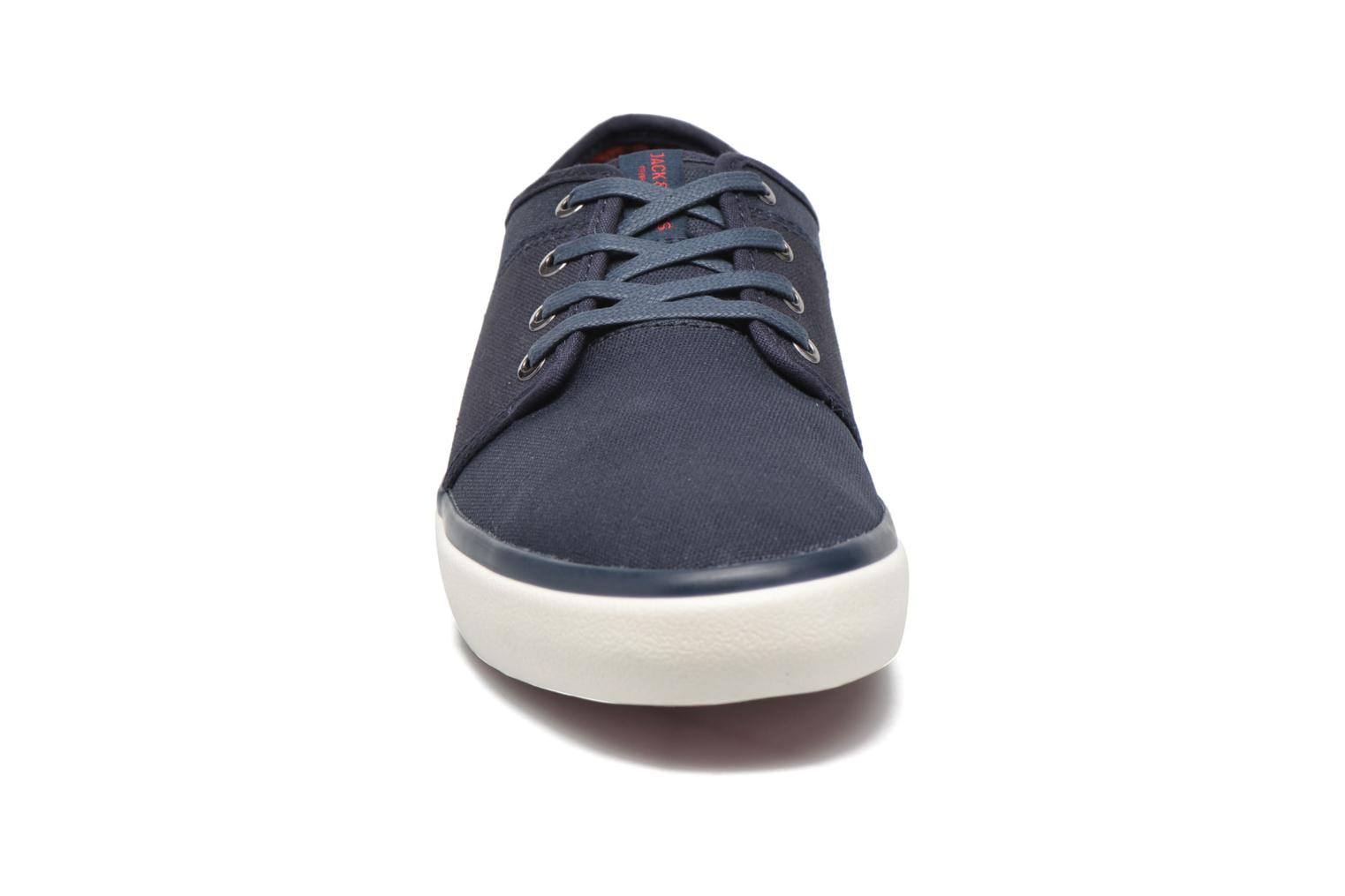 Sneakers Jack & Jones JJ Turbo Waxed Canvas Azzurro modello indossato
