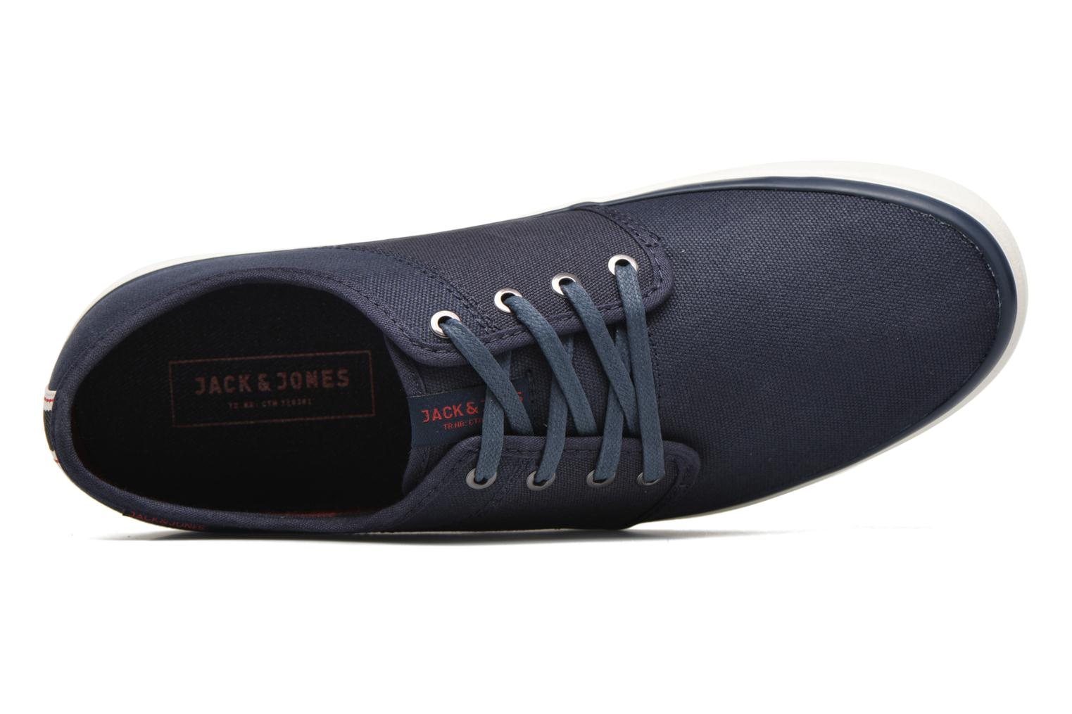 Sneakers Jack & Jones JJ Turbo Waxed Canvas Azzurro immagine sinistra