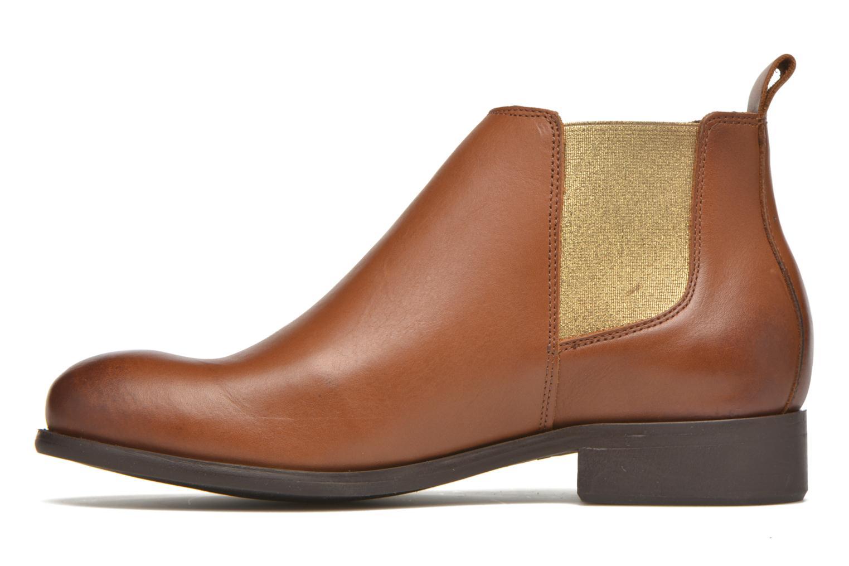 Bottines et boots Pieces Izi Leather Short Marron vue face