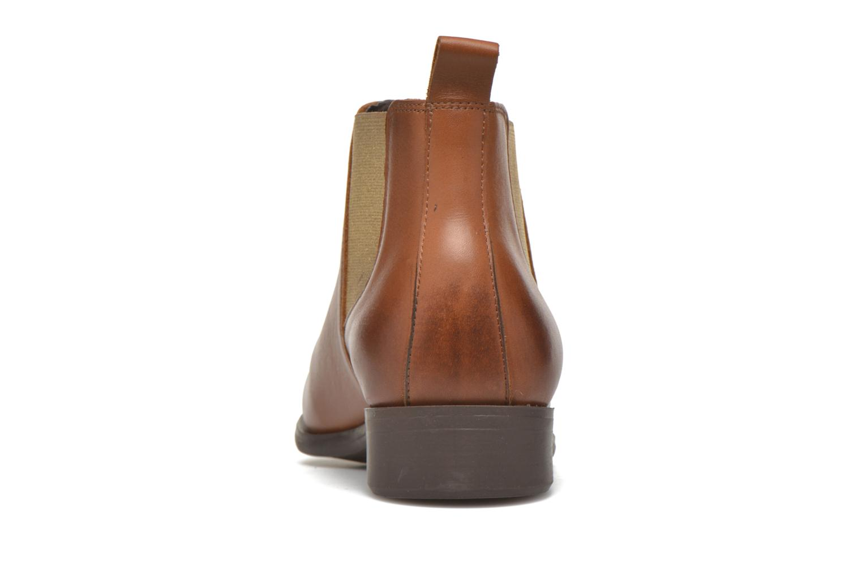 Bottines et boots Pieces Izi Leather Short Marron vue droite