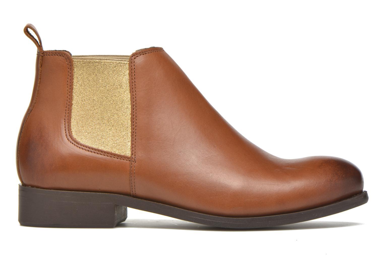 Bottines et boots Pieces Izi Leather Short Marron vue derrière