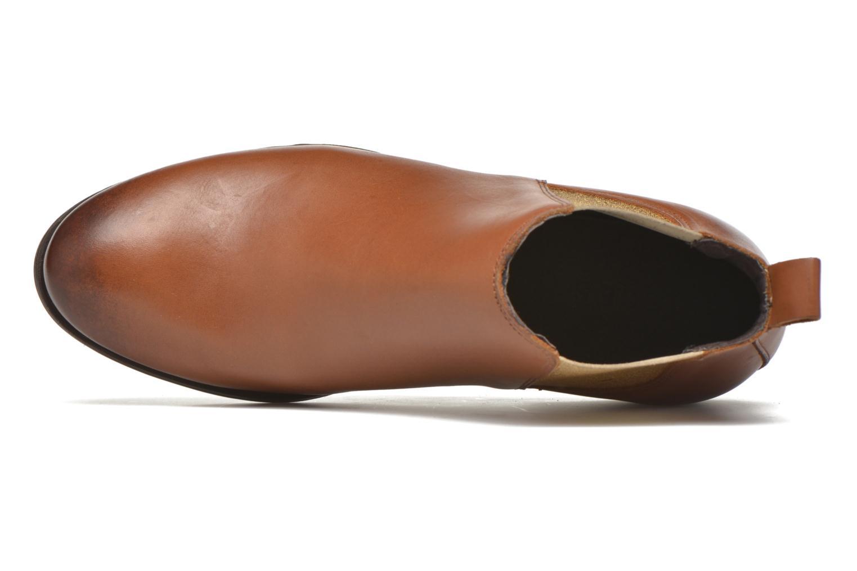 Bottines et boots Pieces Izi Leather Short Marron vue gauche