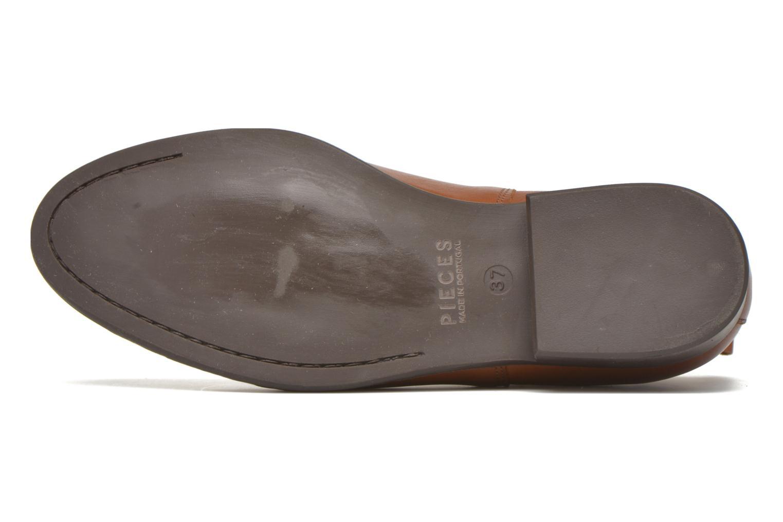 Bottines et boots Pieces Izi Leather Short Marron vue haut