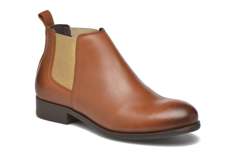 Bottines et boots Pieces Izi Leather Short Marron vue détail/paire
