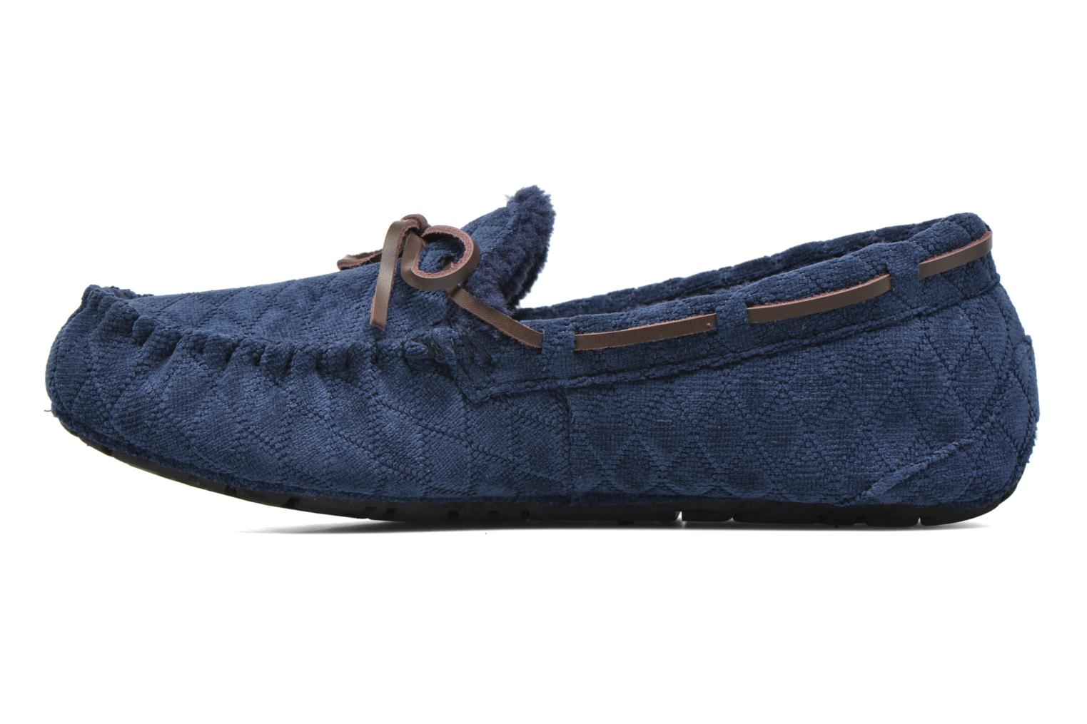 Slippers Ruby Brown Finlay Blue front view