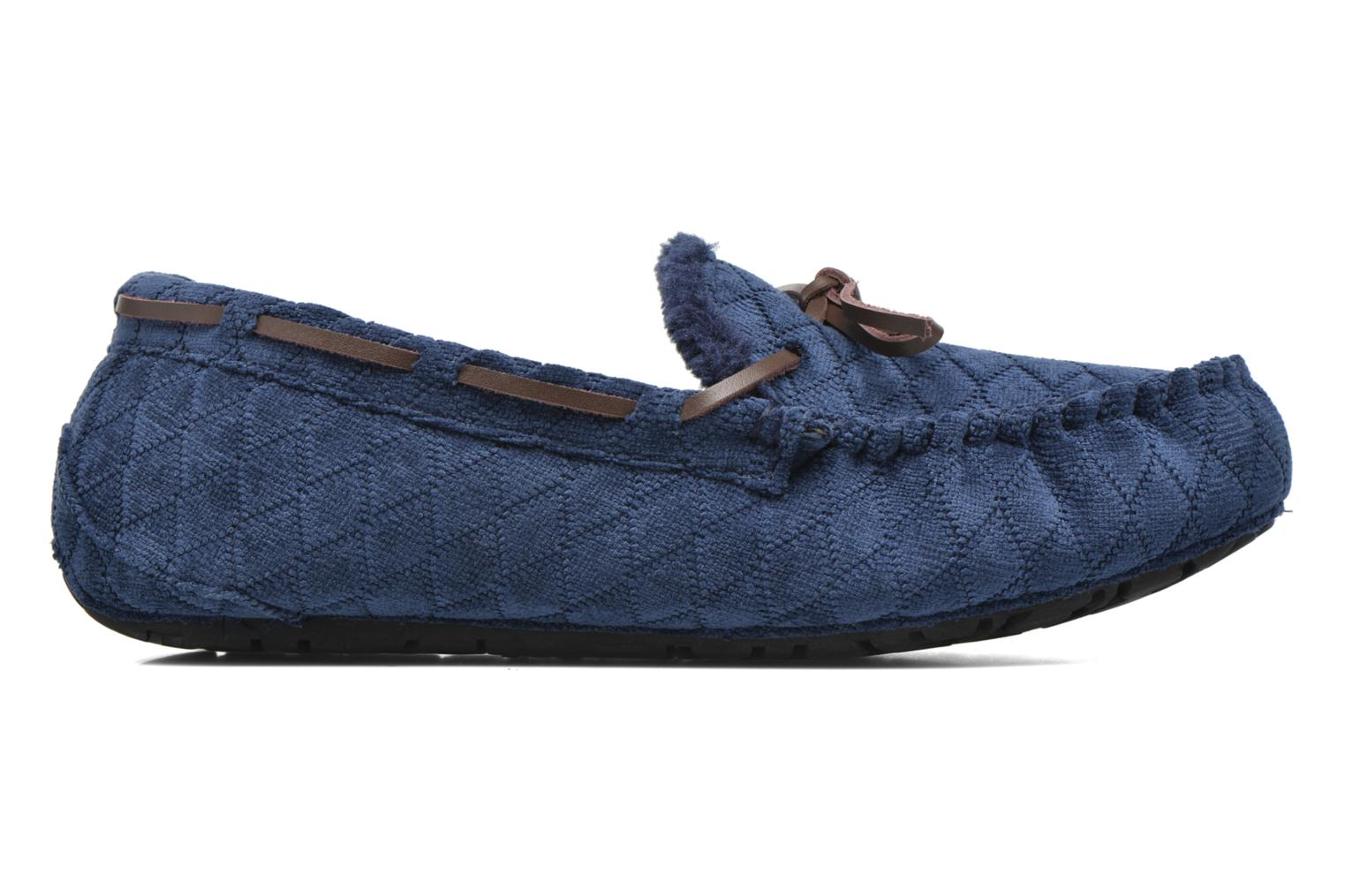 Slippers Ruby Brown Finlay Blue back view