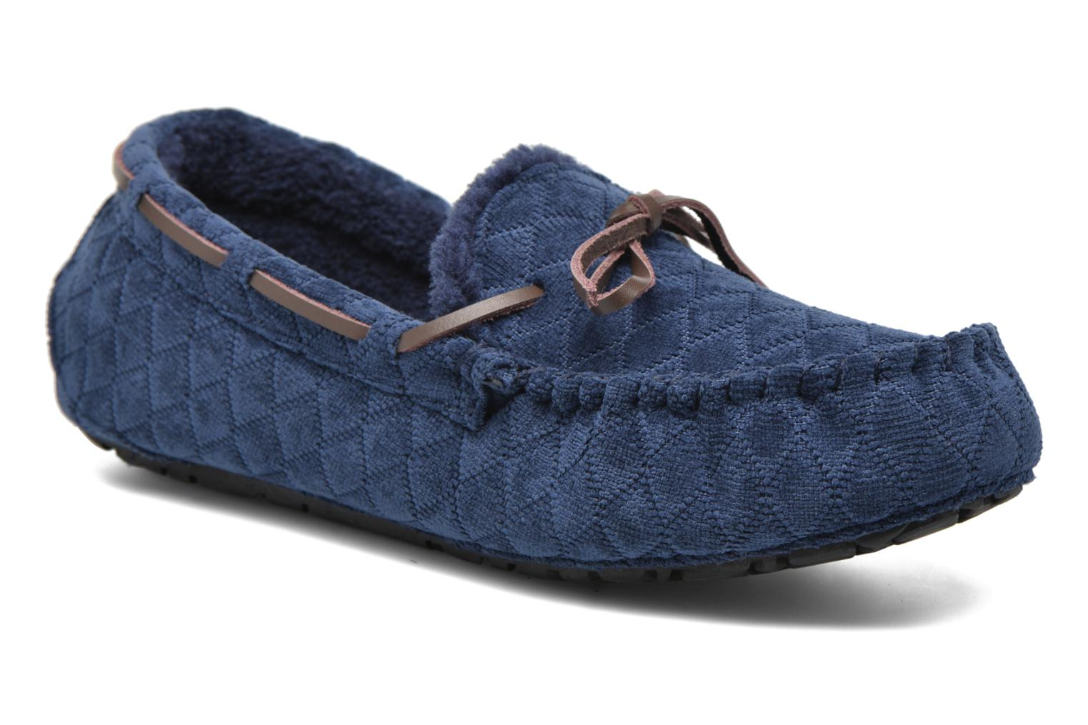 Slippers Ruby Brown Finlay Blue detailed view/ Pair view