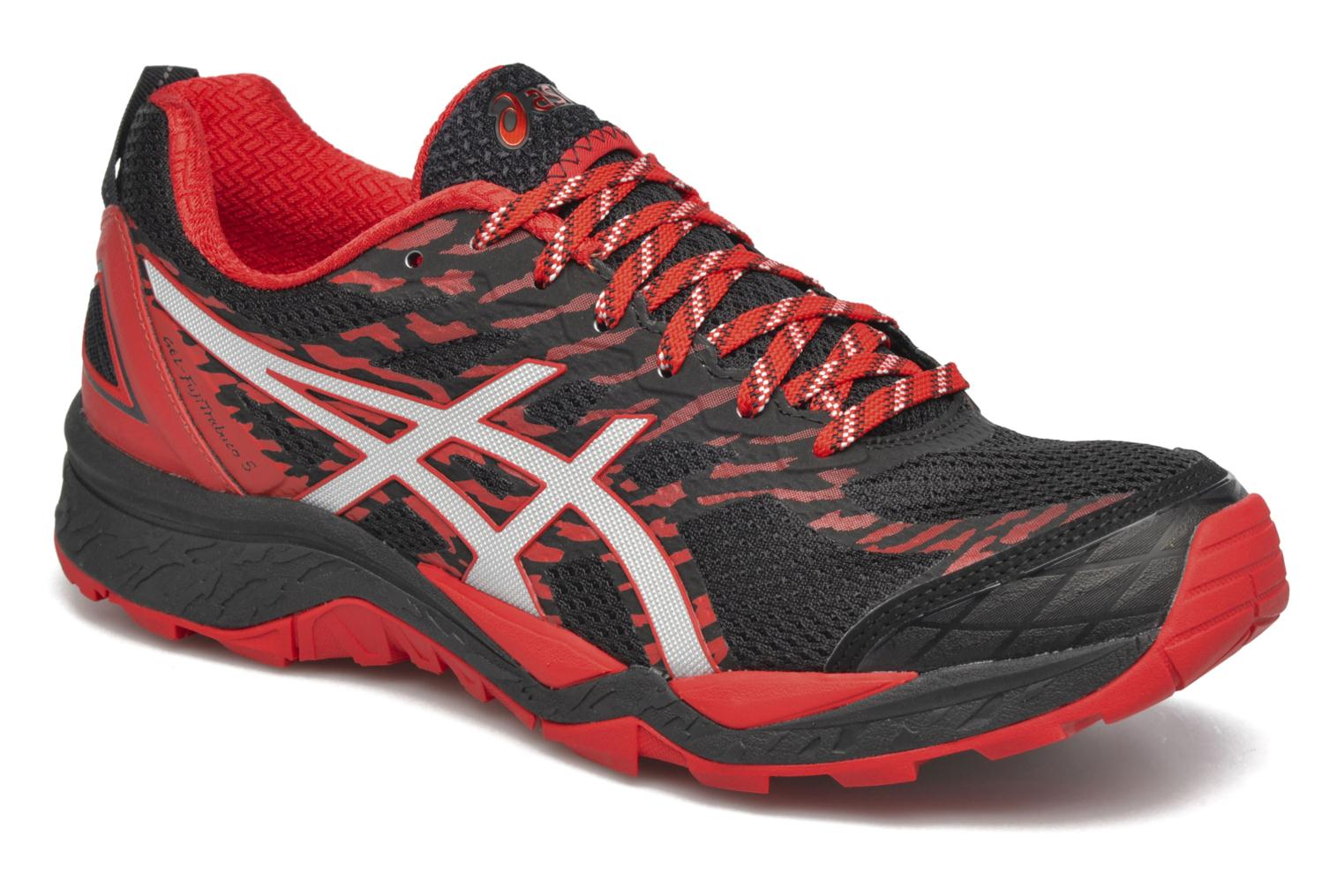 Sport shoes Asics Gel-Fujitrabuco 5 Red detailed view/ Pair view