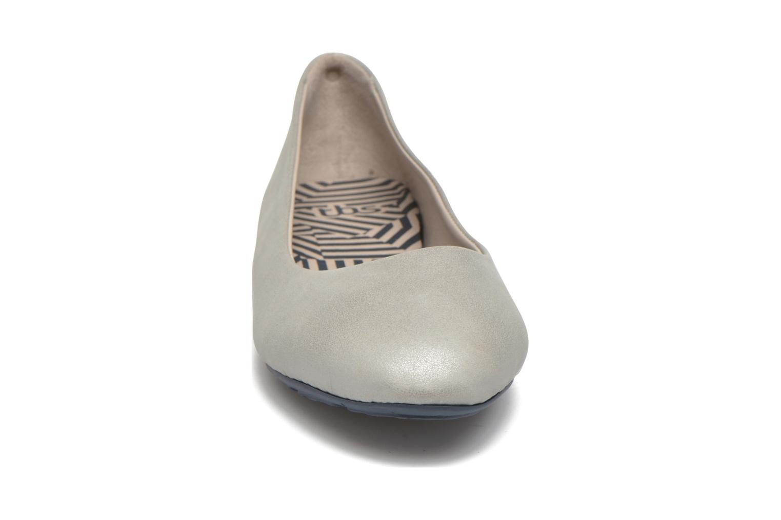 Ballet pumps TBS Camille Silver model view