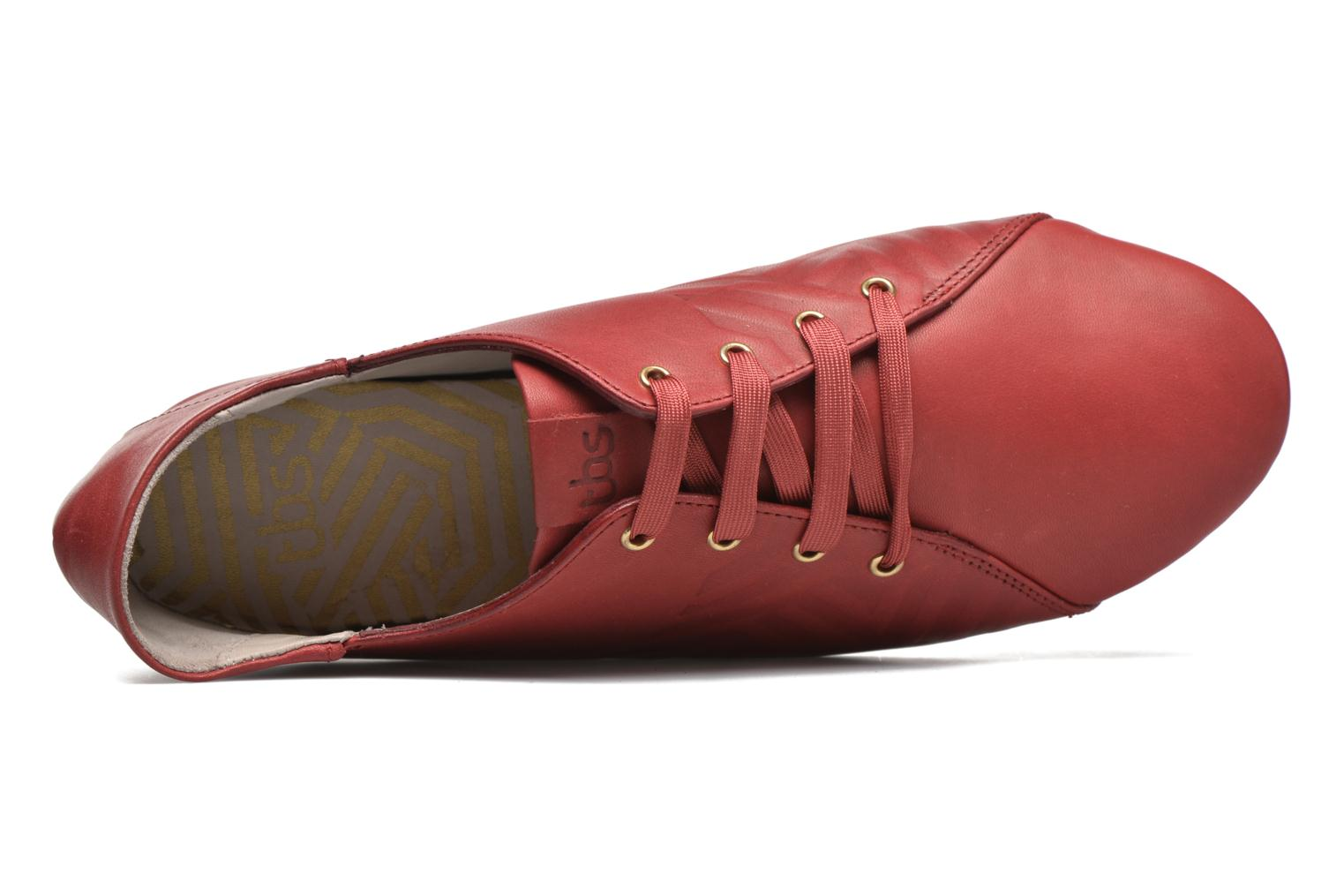Lace-up shoes TBS Charlyn Red view from the left