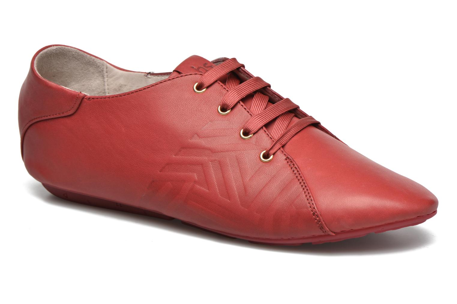 Lace-up shoes TBS Charlyn Red detailed view/ Pair view