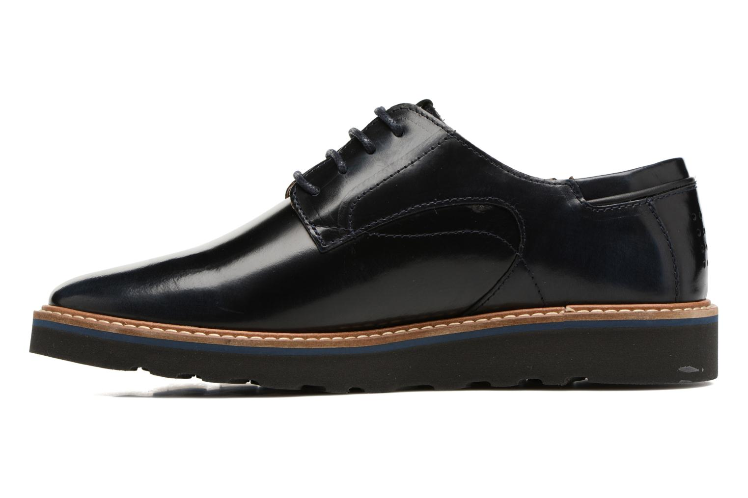 Lace-up shoes TBS Typhany Blue front view