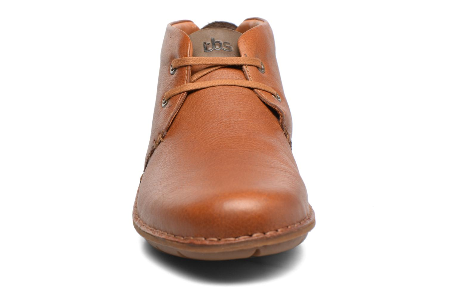 Lace-up shoes TBS Ystoryh Brown model view