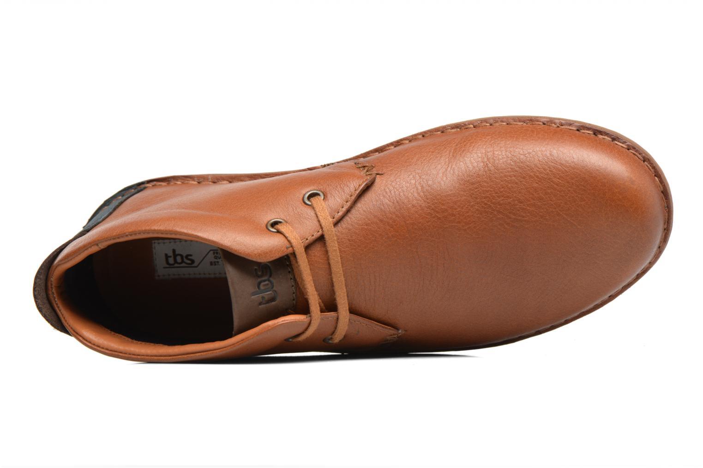 Chaussures à lacets TBS Ystoryh Marron vue gauche