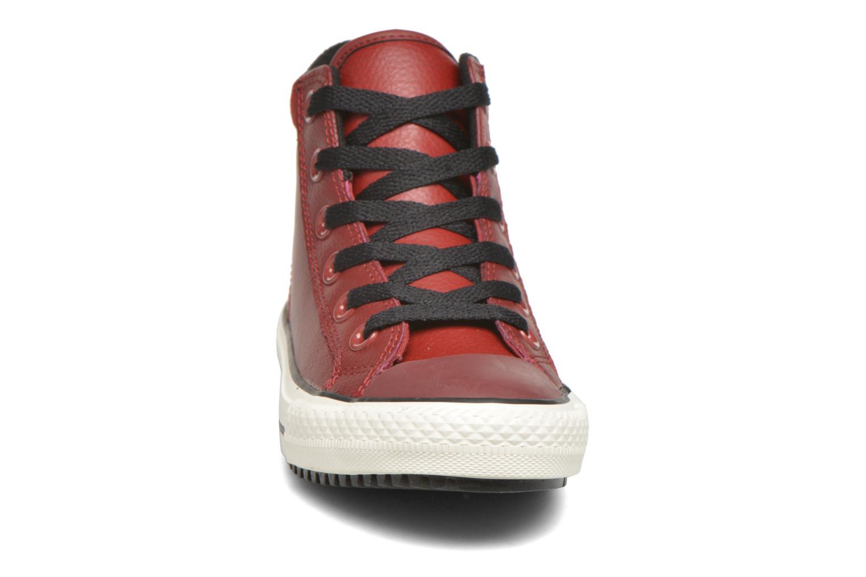 Sneaker Converse Chuck Taylor All Star Converse Boot Hi rot schuhe getragen