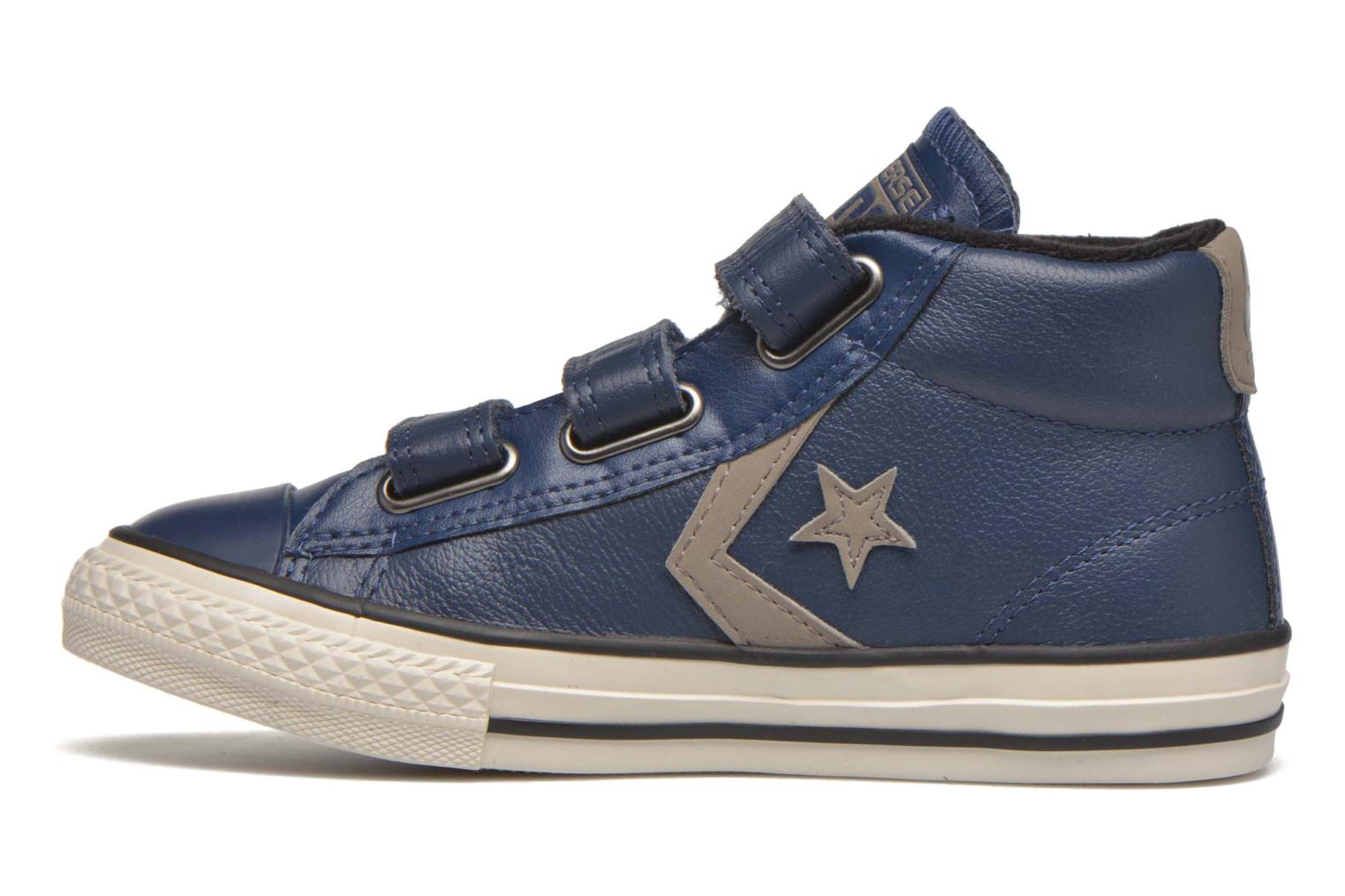 Sneakers Converse Star Player 3V Mid Blauw voorkant