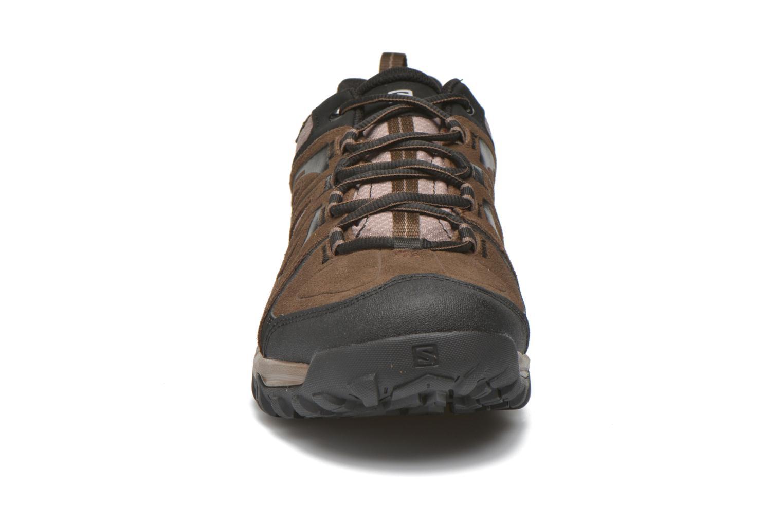 Chaussures de sport Salomon Evasion GTX Marron vue portées chaussures