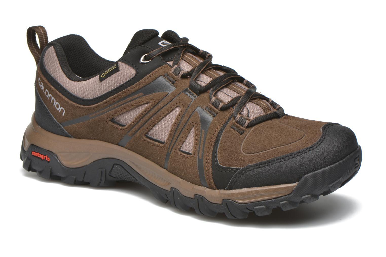 Chaussures de sport Salomon Evasion GTX Marron vue détail/paire