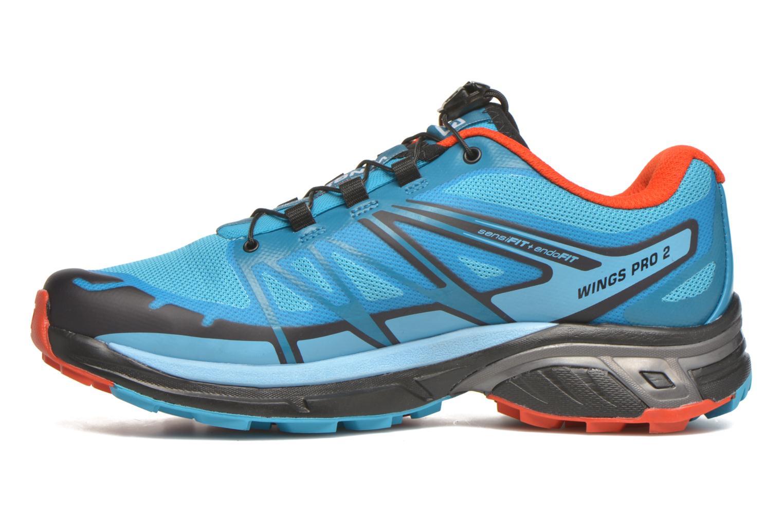 Chaussures de sport Salomon Wings Pro 2 W Bleu vue face