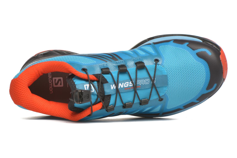 Chaussures de sport Salomon Wings Pro 2 W Bleu vue gauche