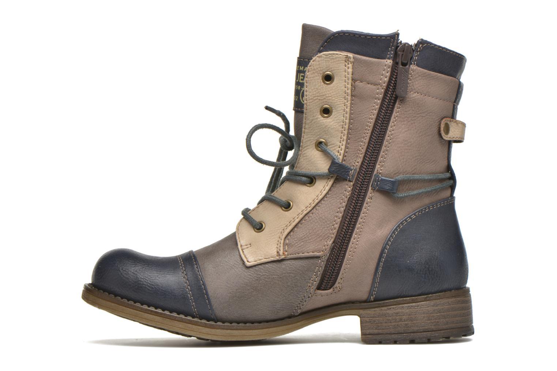 Bottines et boots Mustang shoes Christa K Bleu vue face