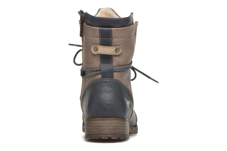 Bottines et boots Mustang shoes Christa K Bleu vue droite