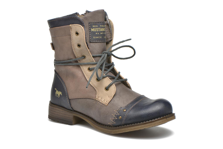 Bottines et boots Mustang shoes Christa K Bleu vue détail/paire