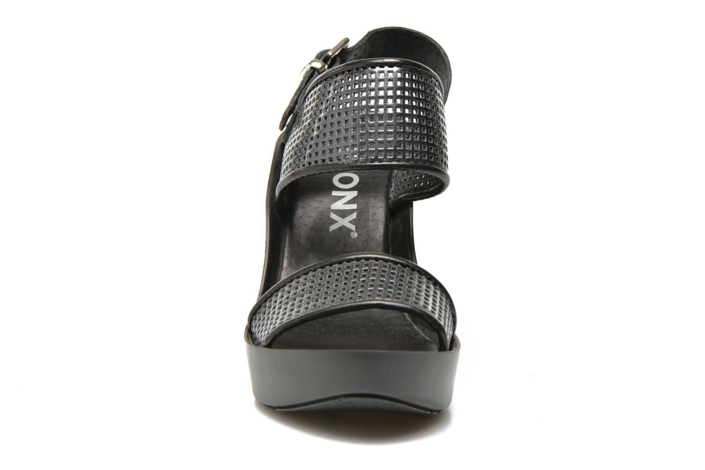 Sandales et nu-pieds Bronx Anner A Gris vue portées chaussures
