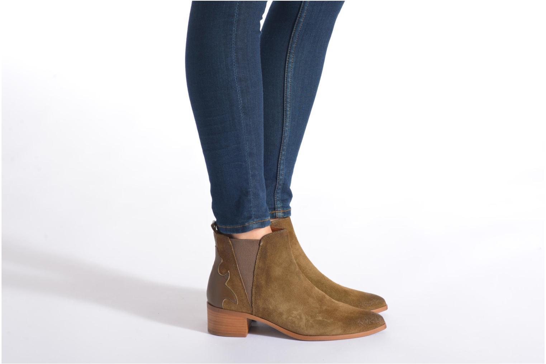 Bottines et boots Bronx Vik Marron vue bas / vue portée sac