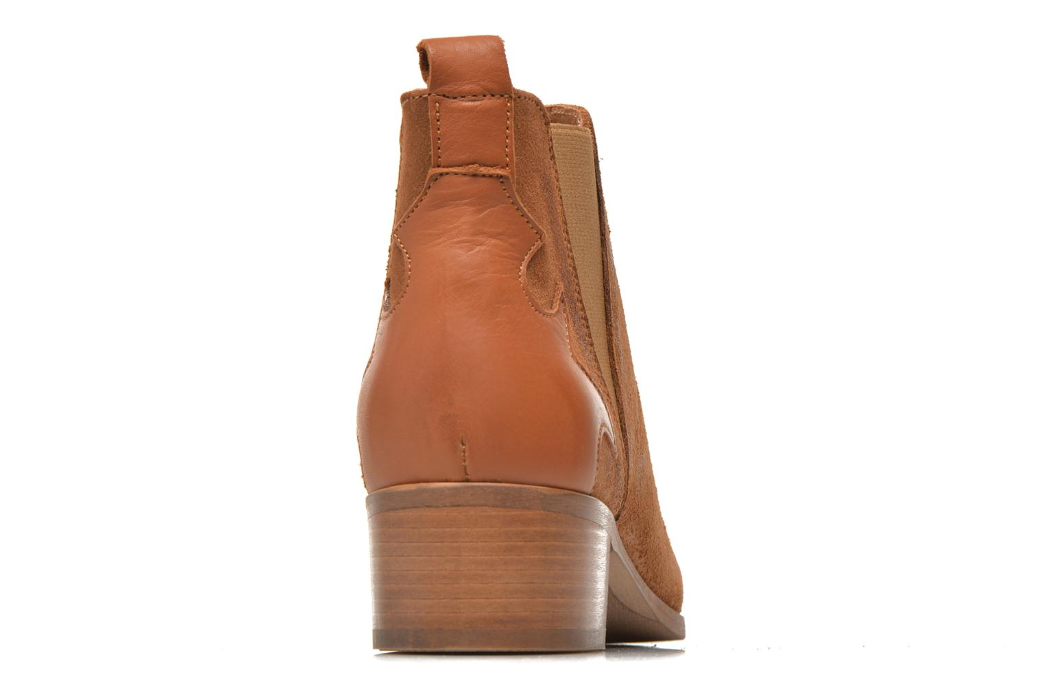 Ankle boots Bronx Vik Brown view from the right