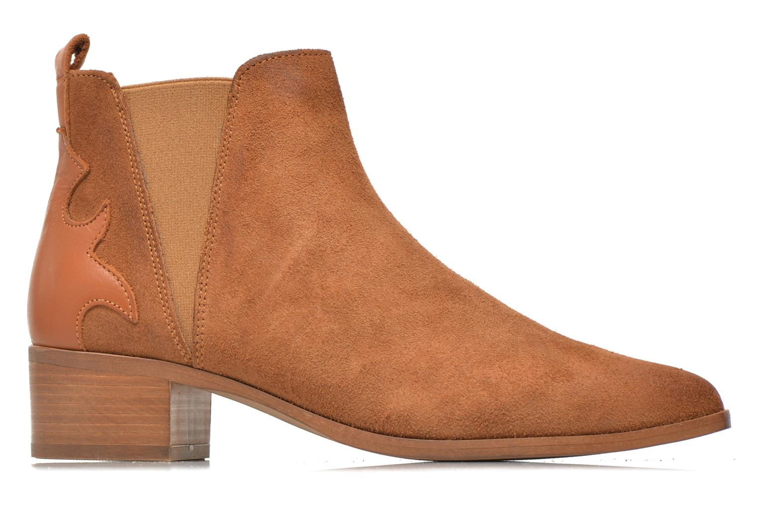 Ankle boots Bronx Vik Brown back view